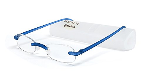 Calabria Reading Glasses - 714 Flexie in Cobalt +1.25