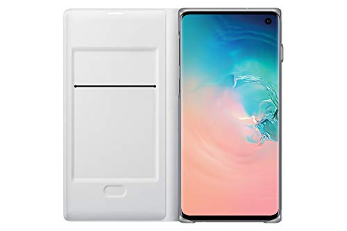 Samsung Galaxy S10 LED Wallet Case, White