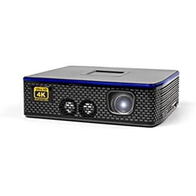 AAXA 4K1 LED Home Theater Projector  30 000 Hour LEDs  Mercury Free  Native UHD Resolution  Dual HDMI with HDCP 2 2  1500 Lumens  E-Focus  Portable Size