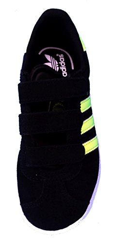 adidas  Gazelle 2 CF C, Jungen Sneaker Schwarz black - electric yellow