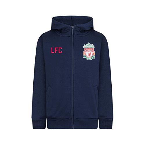 Liverpool FC Official Soccer Gift Mens Fleece Zip Hoody Navy XXL