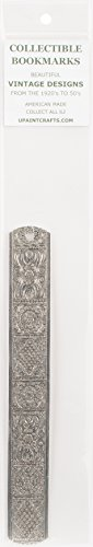 Collectible Silver Medallion - Frank Morrow Company U-Paint Collectible Vintage Antique Silver Bookmark-Ornate Medallions