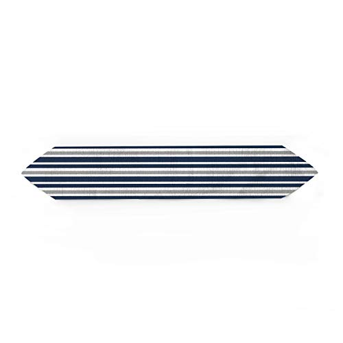 Cloud Dream Home Navy Blue, Gray and White Kids Teen Stripe Table Runner for Morden Greenery Garden Wedding Party Table Setting Decorations 13x70inch from Cloud Dream Home