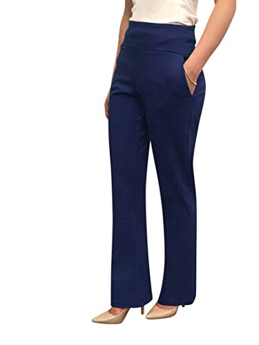 - OrlyCollection Womens Elegant Bootcut Pants with Pocket(Navy,XX-Large)