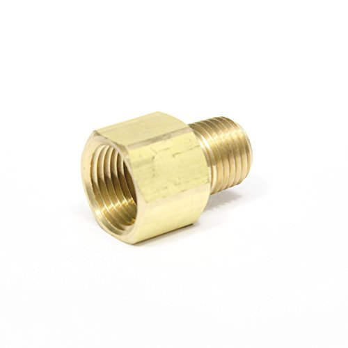 "FasParts 3/8"" Female NPT FPT FIP to 1/4"" Male MPT MIP Brass Pipe Adaptor Fitting Fuel / Air / Water / Boat / Gas / Oil WOG 250*F 1000"