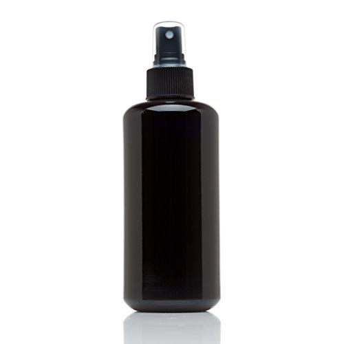 Infinity Jars 200 Ml (6.7 fl oz) Black Ultraviolet Glass Fine Mist Spray Bottle ()