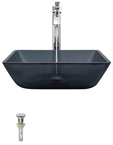 Mr Direct 630バスルームのアンサンブル(Bundle – 4 Items :舟形シンク、滝蛇口、ポップアップ排水、シンクリング) 726 シルバー 630-726-C B00KDMWDBO 726|クロム クロム 726