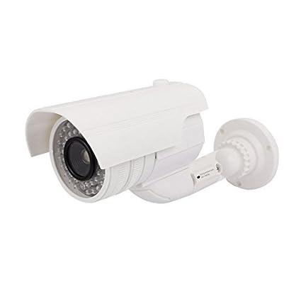 eDealMax de vigilancia de seguridad falso muñeco de la cámara de luz intermitente roja al aire