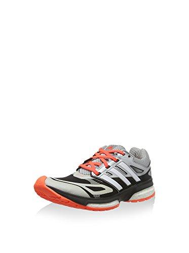 Adidas Response Boost Techfit Junior B26540 - Zapatillas de deporte(talla 382/3), color plateado Gris / Naranja