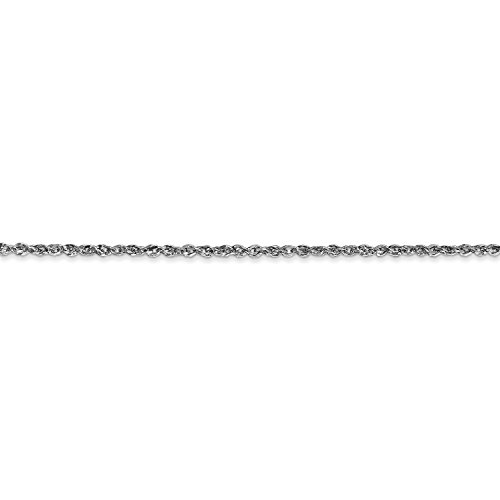 ICE CARATS 10k White Gold 1.7mm Ropa Chain Anklet Ankle Beach Bracelet 10 Inch Fine Jewelry Gift Set For Women Heart by ICE CARATS