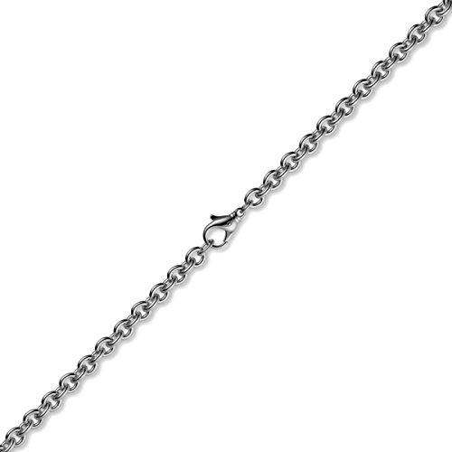 2,7mm Bracelet Bracelet Chaîne rundanke en or blanc 585, 19cm Unisexe