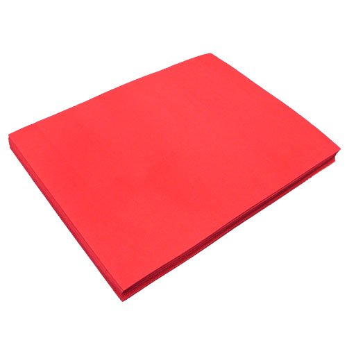 Red Fun Foam Sheet 9'' X 12'' X 1/16'' Thick (12 Pcs/Pack) by Cleverbrand