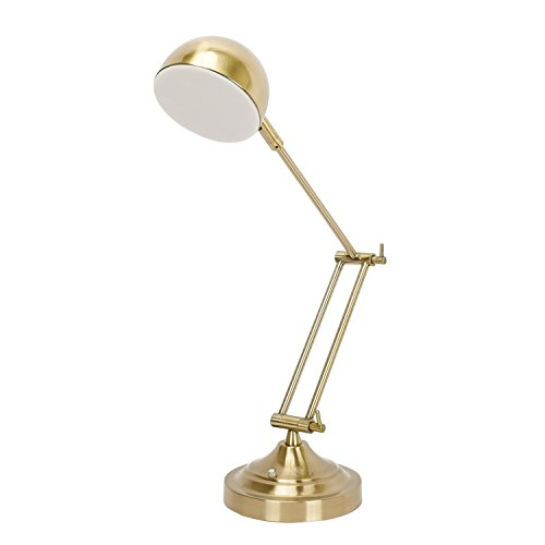 Bon Sunllipe Swing Arm Desk Lamp 7W LED Dimmable Architect Reading Lamp With  Rotatable Head,Antique Brass Finish
