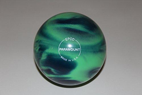 EPCO-Duckpin-Bowling-Ball-Marbleized-Sea-Green-Blue-Single-Ball