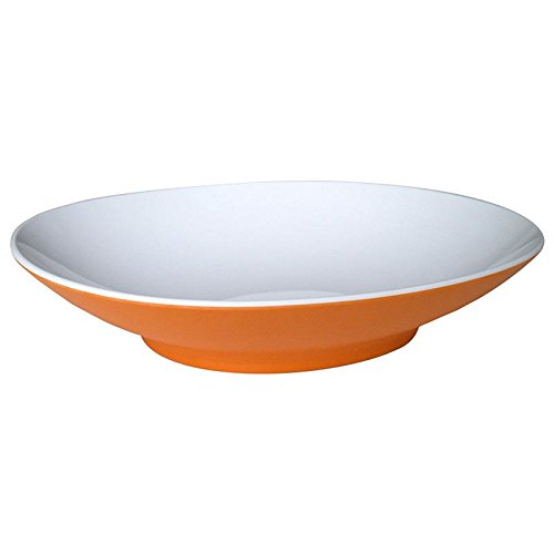Mebel EC14-M02MV-ORA Oblong Soup Plate in 2-Tone, Outside Orange Inside ()