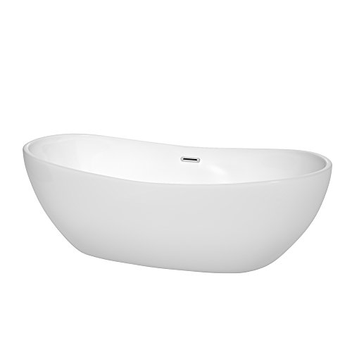 Wyndham Collection WCOBT101470 Rebecca Freestanding Bathtub, 70