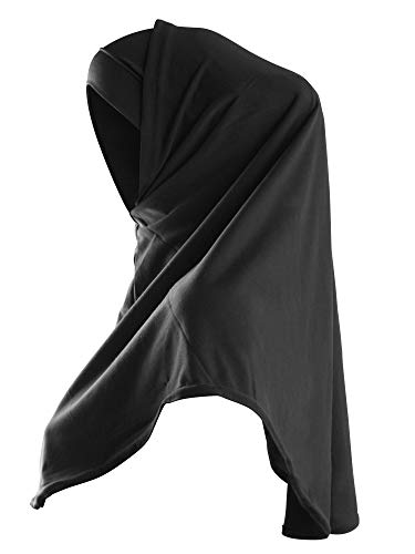 TheHijabStore.com Women's Amira Hijab 2 Piece with Tube Under Scarf Cap- Soft Polyester Princess Ready to Wear Instant Scarf Black ()