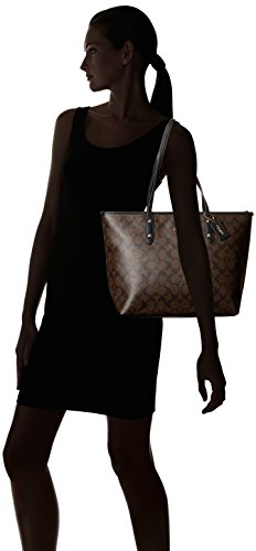 b876c3bff6dd Buy coach signature city zip tote - brown black Online at Low Prices in  India - Amazon.in