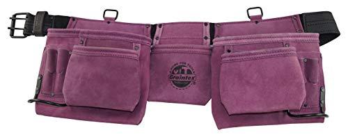 Graintex DS2035 11 Pocket Work Apron Purple Suede Leather
