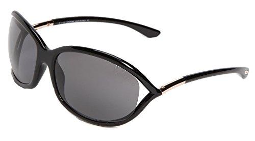 Tom Ford Jennifer New Sunglasses (61 mm, Black Frame Solid Black - Glasses Jennifer