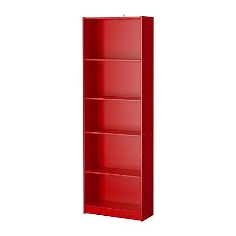 Ikea Durable Finnby libreria, rosso, 60 x 180 cm: Amazon.it: Casa e ...