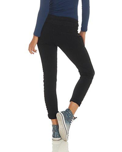 avec Noir Boyfriends Dames Pantalon Affaires ZARMEXX Pantalons Incrustation 816133 Pantalons Coton Occasionnels 6Fq7nRCw
