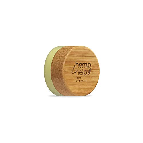 Hemp4Help's 100% Natural Moisturising Organic Hemp Lip Balm 2.0 with Beeswax and Cacao butter, Vitamin E & Peppermint Oil, Hemp extract, Olive Oil - Plastic free, Natural SPF 10