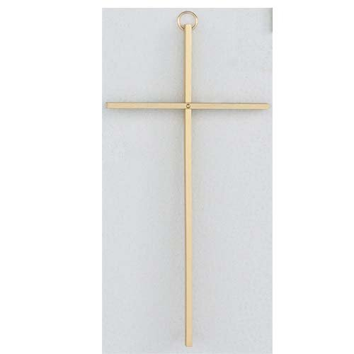 Solid Brass Cross - WALL CRUCIFIX- 10