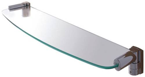 Wingits Oval Glass Shelf, 18 In., Satin Stainless Steel
