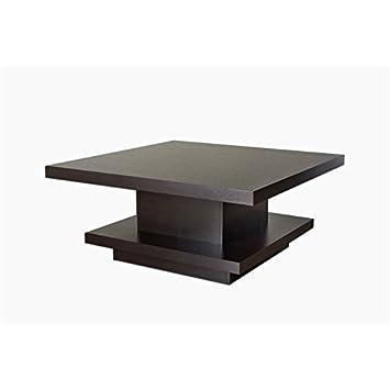 Amazoncom Furniture of America Carenza Square Coffee Table in
