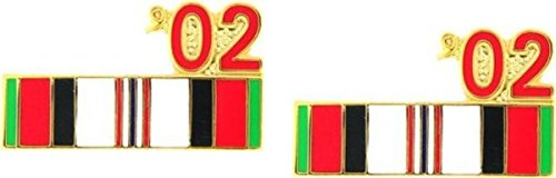 MilitaryBest 2002 Afghanistan War Campaign Ribbon Pin 2 Pack