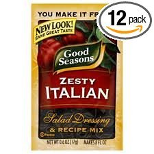 Good Seasons Salad Dressing & Recipe Mix .6-.75oz Packets (Pack of 12) (Zesty Italian .6oz) ()