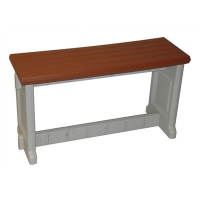 Leisure Accents Patio Table - Plastic Picnic Bench Finish: Redwood, Size: 36