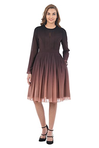 Single short in front long sleeve dress - 7