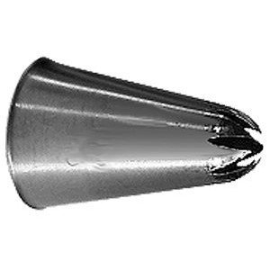 - Ateco # 845 - Closed Star Pastry Tip .44'' Opening Diameter- Stainless Steel