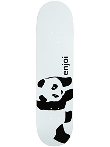(Enjoi Panda Logo Wide R7 Skateboard Deck, Whitey, 8.0