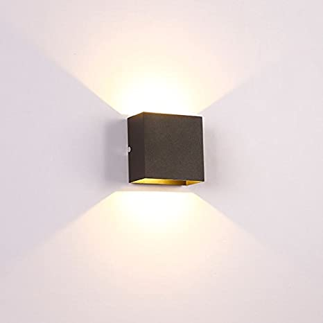 Modern Black Square Wall Sconce Bulb Included Litfad Simple 6w Led Decorative Wall Lamp Night Light For Pathway Staircase Bedroom Balcony Drive Way Wall Lamps Sconces Amazon Canada