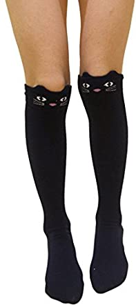 Little Girls4 Pack Cartoon Knee High Socks Tights