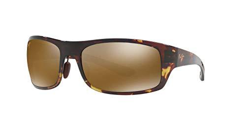 Maui Jim Big Wave H440-15T | Polarized Olive Tortoise Wrap Frame Sunglasses, Patented PolarizedPlus2 Lens Technology
