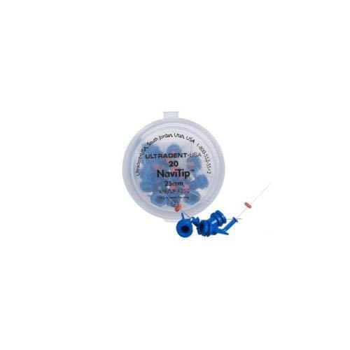 Ultradent 1250 NaviTip Mixing Tip, 0.98'' Length, 30 Gauge, Blue (Pack of 20)