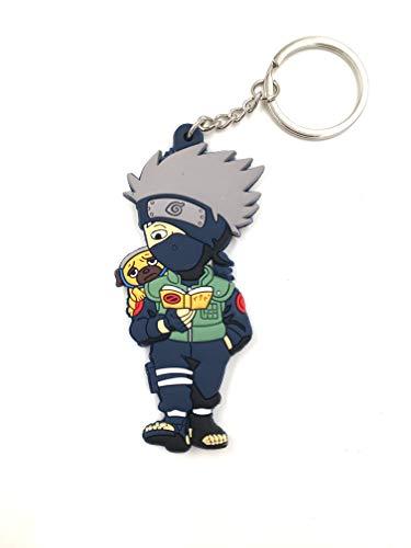 - CellDesigns Japanese and US Anime Character Souvenir Collection (Naruto Cute Kakashi Hatake-Keychain)