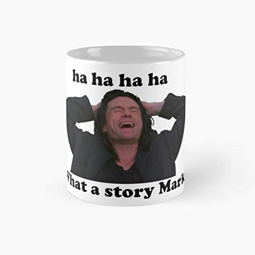 WHAT A STORY MARK THE ROOM Mug, dog Cup, 11 Ounce Ceramic Mug, Perfect Novelty Gift Mug, Funny Gift Mugs, Funny Coffee Mug 11oz, Tea Cups 11oz]()