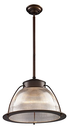 Halophane 1 Light Pendant in Aged Bronze ()