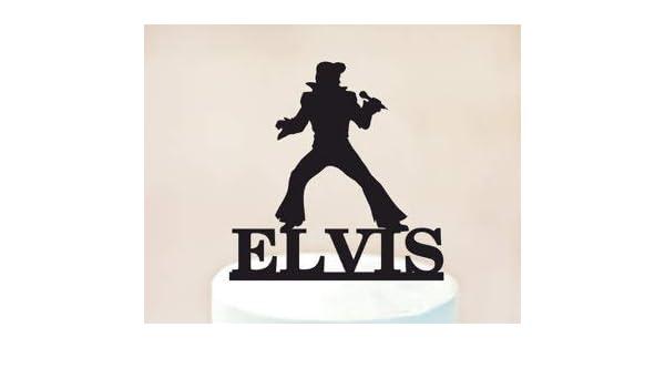 Groovy Elvis Cake Topper Elvis Birthday Cake Topper Rock N Roll Party Birthday Cards Printable Opercafe Filternl