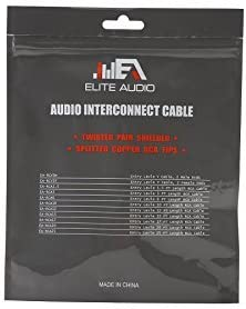 Elite Audio EA-RCY2F 6 Twisted Pair RCA Y-Adapter 1-Male 2-Female Split Pin Connector 100/% Copper Noise Cancelling Professional Grade