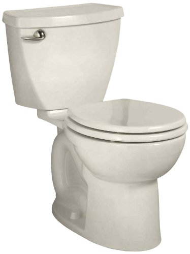American Standard Cadet 3 Right Height Round Front Flowise Two-Piece High Efficiency Toilet with 10-Inch Rough-In, Linen Linen