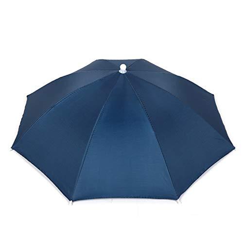 Hunter's Tail UV Umbrella Hat, with Umbrella Fishing Gardening Folding Umbrella One Canopy