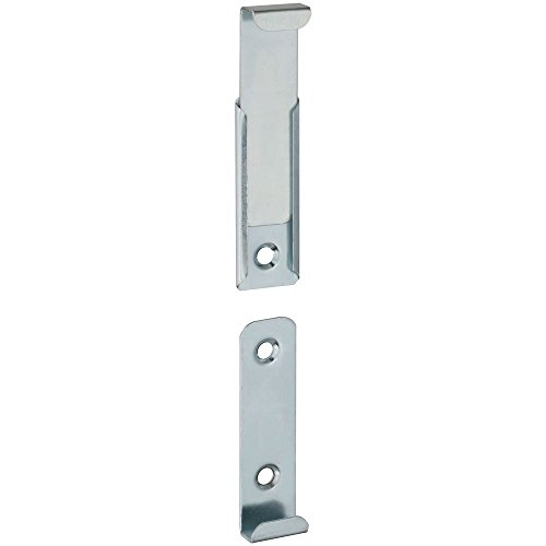 National Hardware N260-380 V2559 Hidden Mirror Holders in Zinc plated, 4 - Bathroom Clips Mounting Mirrors