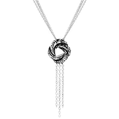 Little Treasures - Sterling Silver Algerian Love Knot Pendant Necklace (Inspired by James Bond) zlbUuAw0