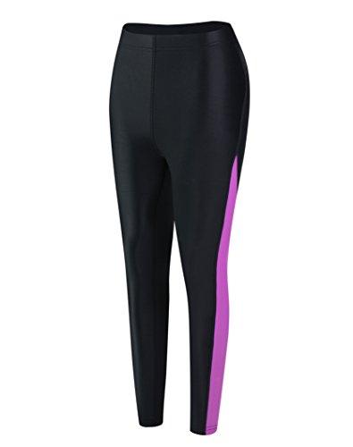 EYCE Dive & SAIL Womens 1.5mm Neoprene Wetsuit Pants Diving Snorkeling Scuba Surf Canoe Pants (Purple, 2XLarge)